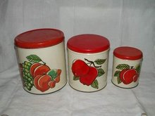 Canister Set Apples Fruit Ballonoff Made in USA