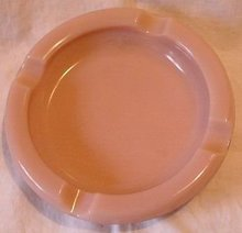 Pink Milkglass Ashtray