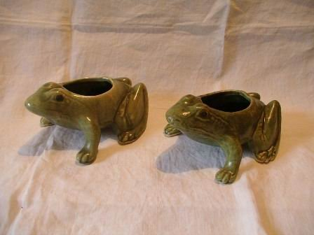 Vintage Frog Planters Set of Two