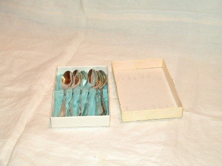 Demitasse Spoons Set of Six in Box Marked MET