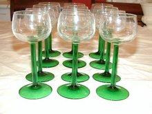 Luminarc Cris D'Arques Rhine Wines Emerald 12 Stems
