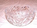 Crystal Bowl Etched Cut