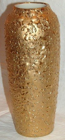 Vintage Vase Weeping Bright Gold 22K
