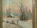 Watercolor Original Country Scene Unsigned