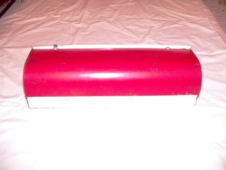 Vintage Red and White Paper Dispenser