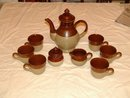 Coffee Service Brown Drip Style Not Marked