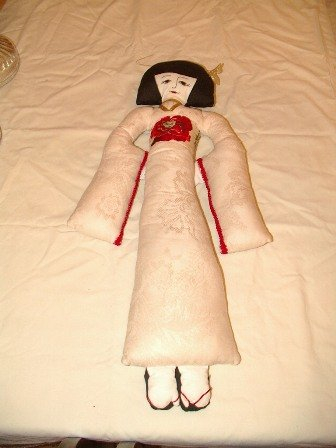 Handmade Japanese Doll 26 Inches Tall