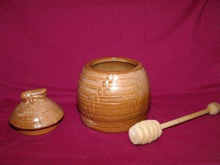 Honey Bee Honey Pot by Frankoma Mayan Aztec