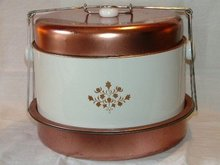 Copper Finish Cake and Pie Saver Carrier