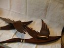 Eames Era Geese Flying Walnut and Brass