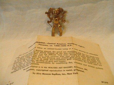Goldplated Alva Museum Replica Pin
