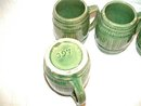 Stoneware Mugs Green Six  Marked 397