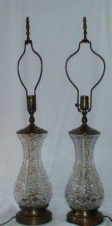 Vintage Leaded Crystal Lamps