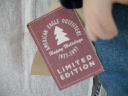 American Eagle Doll Limited Edition Box and Stand