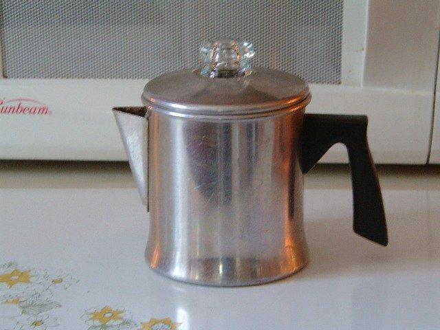 Tiny Coffee Pot Stove Top Percolator