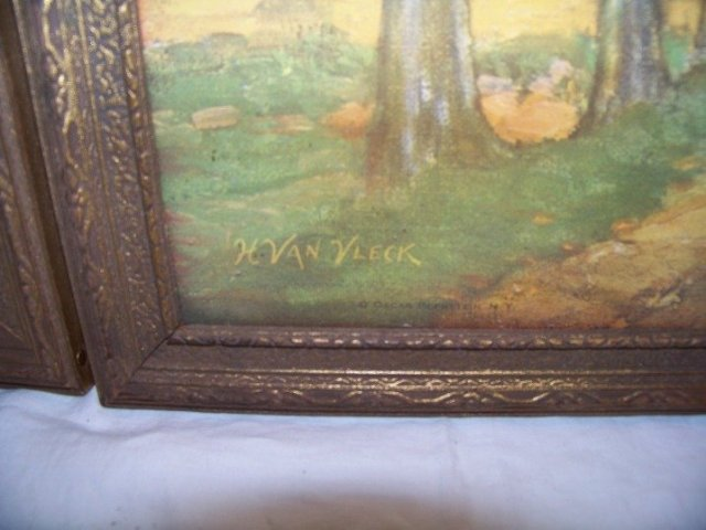 Three Old Pictures Nice Colors Gold Frames