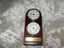 Benchmark Desk Clock & Thermometer Set