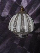Vintage Glass Light Shade or Globe w/Sand Decoration
