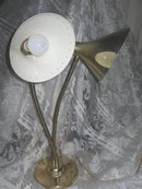 Vintage White Milk Glass Lamp w/Glass Shade