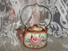 Vintage Teapot Wall Pocket