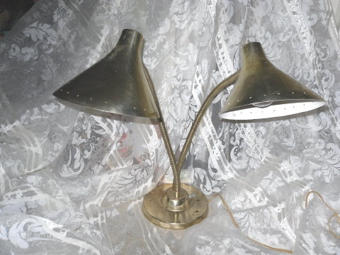 Vintage Gooseneck Table Lamp