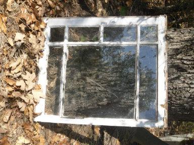 Vintage Wooden Window  w/Glass