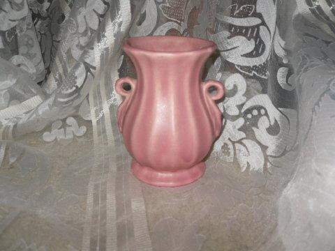 Vintage Pink Pottery Vase  Weller  ??  Roseville ?