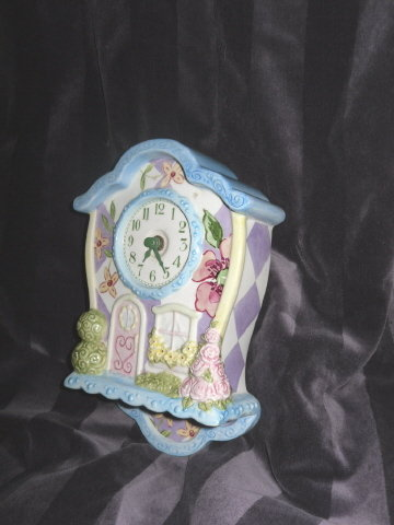 Mary Engelbreit Style Clock  **CUTE**