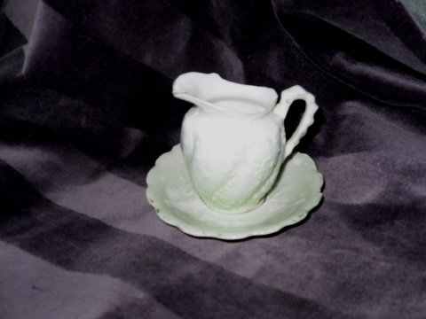 Vintage Miniature Bone China Bowl & Pitcher Set