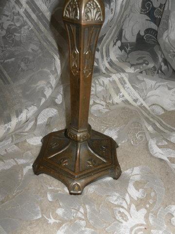 Vintage Bronze Art Metal Candlestick
