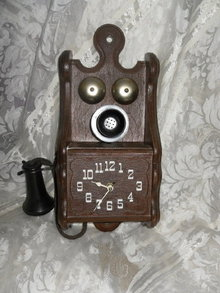 Vintage Wall Telephone Clock