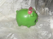 Vintage Green Piggy Bank