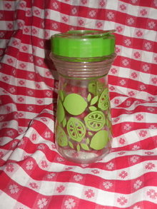 Vintage Green Lime Glass Juice Container