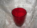 Vintage Large Red Glass Vase