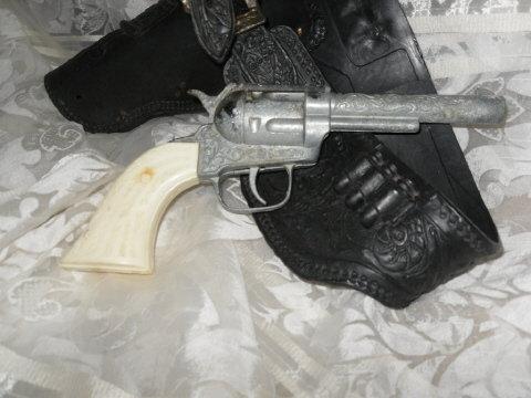 Vintage Pony Boy Metal Cap Gun w/Holster