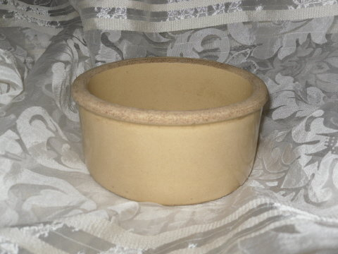 Vintage Robinson Ransbottom Pottery Chicken Feeder or Dog Bowl