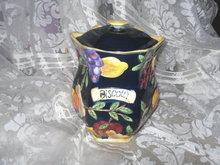 Large Cookie Jar or  Biscotti Jar w/Fruit