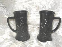 Vintage Black Amethyst Glass Tankard