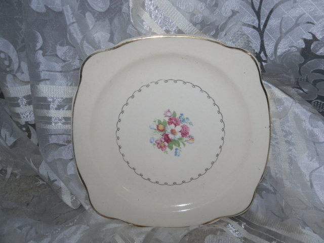 Vintage Paden City Pottery Square Plate