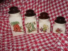 Vintage Canister Set w/Vegetables