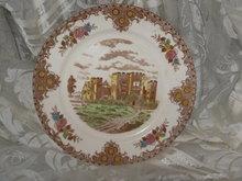 Vintage English Castle Dinner Plate