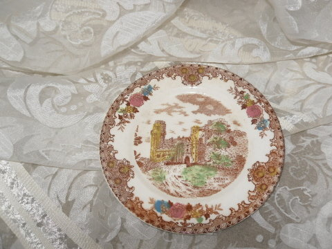 Vintage English Castle Dessert Plate