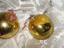 Vintage Glass Christmas Bulb Decorations