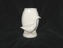 Vintage White Pottery Goose Vase Figurine  **LOOK**
