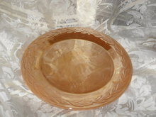 Vintage Fire King Peach Luster Cake Plate or Platter