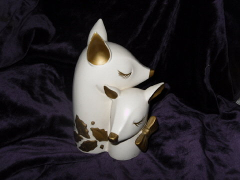Vintage Holt Howard Reindeer Christmas Vase  **RARE**