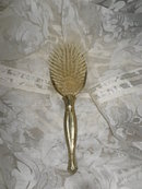 Vintage Gold Metal Hair Brush