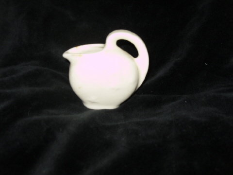 Vintage Miniature White Star Pottery Pitcher
