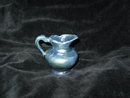 Vintage Miniature Blue Metallic Glaze Pottery Pitcher