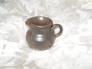 Vintage Miniature Brown Clay Pottery Pitcher